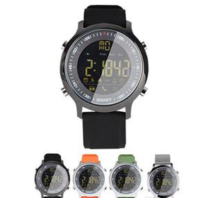 2017 Nueva Impermeable IP67 5ATM Reloj Inteligente Pasómetro Recordatorio de Mensaje reloj Despertador reloj Natación Al Aire Libre Deporte EX18 Smartwatch