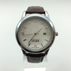 Высокого класса щедрый простой бизнес случайные мужские / женские спортивные часы классический стиль кожаный ремешок календарь водонепроницаемый