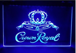 Crown Royal Derby Whisky 2 dimensioni NR birra bar pub club segni 3d led luce al neon segno uomo grotta