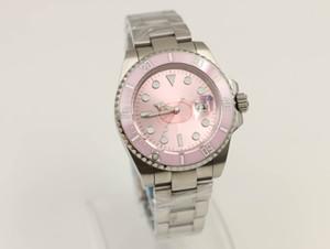 Завод продавец мужские лучшее качество крем 116610 розовый циферблат 2813 механизм 40 мм сапфировый керамический безель мужские часы прибытие автоматические часы