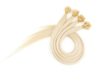 Estensione Remy dei capelli umani pura Keratina Colore biondo pre-bonded 0,5 g / filo 200 g / confezione Capelli a punta piatta