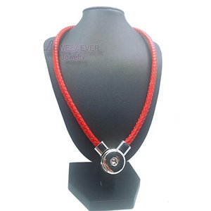 Original cuero nuevo cuero genuino Diy Snap Button Charm broche magnético collar colgante para mujeres hombres Fit 18 mm Button