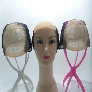 simulação do couro cabeludo swiss net alta qualidade caps para fazer perucas cap tecelagem ajustável com alça ajustável e frente ultra pele