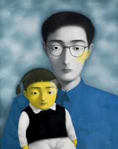 Emoldurado, Lotes Atacado, Artesanato Pure retratos art Zhang Xiaogang pintura a óleo sobre tela de Lona de Algodão de Alta Qualidade Multi tamanhos, R188 #