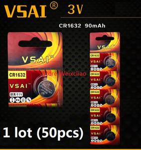 50 قطع 1 وحدة cr1632 3 فولت بطارية ليثيوم أيون زر خلية البطارية cr 1632 3 فولت بطاريات ليثيوم أيون عملة vsai مجانية