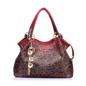 Damen Handtasche Marke Tote Geldbörse Umhängetasche Pu Leder Mädchen Tote Spitze Aushöhlen PU Geldbörse Mode Top Griff Designer Taschen für Damen