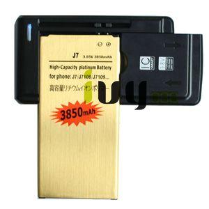 1x 3850mAh EB-BJ710CBC Gold-Ersatz-Akku + Universal-Ladegerät für 2016 Ausgabe Samsung Galaxy J7 J7108 J7109 SM-J708 J7008 J7009 J700F