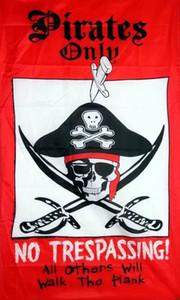 Bandiera Pirata 3X5 ft personalizzati Teschio e croce Crossbones Jolly Roger FP9