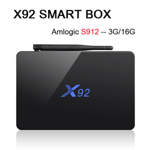 Amlogic S912 3G 32G X92 Octa Çekirdekli 64bit Android 7.1 TV BOX 2G 16G Çift Wifi HDMI 4K H.265 BT4.0 Akıllı Media Player VS X96 H96 S905X