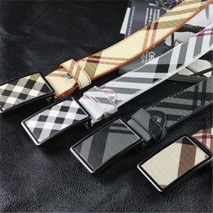 Rushed Solide Streifen Bund Männer Gürtel Kunstleder Luxus Cinto Masculino Korean PU Leder Plate Schnalle Herren Gürtel