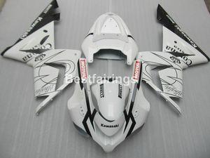 Kit carenatura in plastica per Kawasaki Ninja ZX10R 04 05 carenatura bianco nero ZX10R 2004 2005 YT16