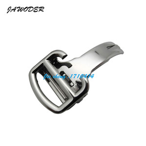 JAWODER Watchband Free Shipping 12 14 16 18 20mm NEW Silver Stainless Steel Watch Band Strap Buckle Deployment Clasps