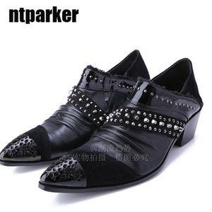 Fashion pointed toe Man shoes 6.5cm Heels male elevator leather man's Dress shoes zapatos de hombre oxford shoes for men, Big Sizes 38-46