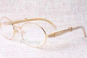 2019 جديد الماس جولة نظارات الماشية القرن نظارات 7550178-A الرجال الأبواق والنساء نظارات شمسية نظارات glasess الحجم: 55-22-135mm
