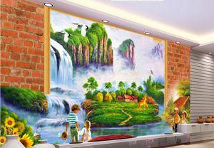Personalizado foto de luxo 3d papel de parede estereoscópico Paisagem Da Água Pinturas A Óleo TV Paredes papel de parede não tecido