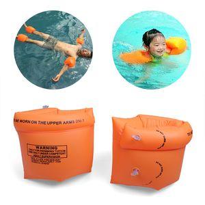 Floaties Gonfiabili Swim Arm Bands Floatation Sleeves Nuoto Anelli Floats Tube Armlets per bambini e adulti 1set / 2pz