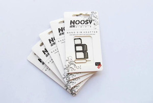 NOOSY Nano Sim & Micro & Standard Card Convertion Converter Nano Sim Adapter Micro sim Card For Iphone 6 Plus All Mobile Devices 500pcs