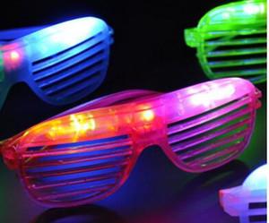 تصميم جديد الصمام الخفيفة اللمعان نظارات مصراع شكل نظارات نظارات فلاش نظارات شمسية الرقص حزب الديكور هدية عيد DHL