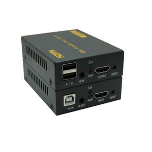Бесплатная доставка новый HDMI Extender IP сети KVM Extender высокое качество 120 м USB HDMI ИК KVM Extender по CAT5e / 6 поддержка TCP / IP