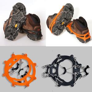 8 미끄럼 방지 얼음 눈 등반 미끄럼 방지 신발 부츠 커버 도보 스파이크 클램프 크램폰 그리퍼 1 쌍
