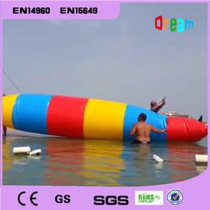 الشحن مجانا سعر جيد 8x2 متر نفخ المياه فقاعة أكوا blob القفز المياه المنجنيق blob