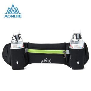 Wholesale- AONIJIE Marathon Water Bottle Pack Hydration Belt Running Jogging Walking Waist Bag Outdoor Sport Waist Pack