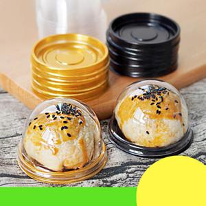 Yuvarlak Plastik Kek Kutusu Tek Bireysel Ay Kek Tepsisi Kutuları Plastik Mooncake Pvc Kutuları Gıda Hediye Paketleme Kutuları