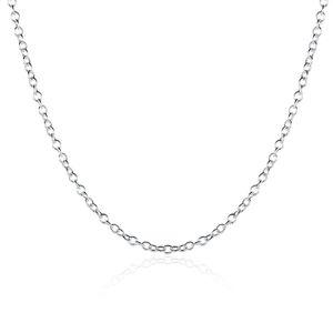 925 colar de prata cadeia de moda jóias esterlinas prata ep cadeia de link 1mm Rolo 16 - 24 polegadas