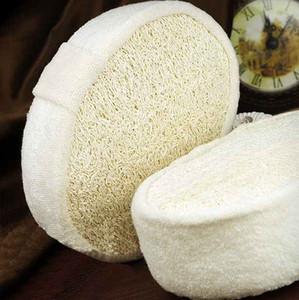 All'ingrosso 1 pc morbido fresco Naturale Loofah Luffa Spugna Doccia Spa corpo Scrubber Exfoliator Facendo il bagno di massaggio Brush Pad Beige