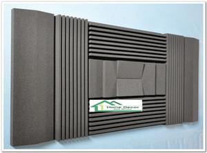 Материал изоляции звукоизоляции панелей пены черного цвета акустический для Ядровой абсорбции в комнатах музыки 210*90*7.5 cm