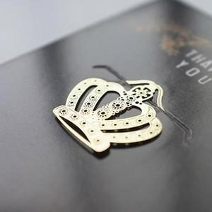 Fashion 18K Segnalibri placcati oro Matrimonio Golden Metal Paragrafi creativi Regali di nozze Golden Key Palm Tree Crown