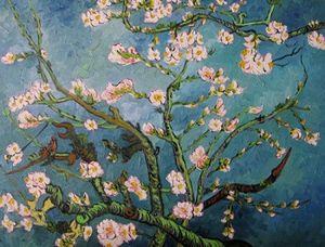 Emoldurado Van Gogh amêndoa galhos de árvores, genuíno Pure Handpainted Paisagem Pintura A óleo Sobre Tela Grossa Multi Tamanho ny