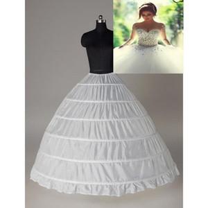 Costoso eccellente di sfera 6 cerchi Petticoat slittamento Wedding Crinoline nuziale Underskirt Layes slittano 6 Hoop crinolina gonna Per Quinceanera