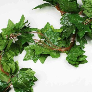 5PCS Big Sleaf Leaf Artificial Vine Garland Plantes Ivy Vine Fake Plants Fleurs Wedding Home Decor 7.5 pieds Artificial Ivy