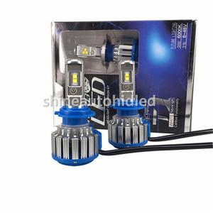 1 takım T1 7200LM Yükseltme COB HEADLAMP TURBO T1 LED FAR H1 H3 H7 H8H9H11 9005/06 / 12 880 6000 K Halojen xenon Farlar ampuller Değiştirin