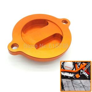 Cap Copertura del motociclo di CNC motore in alluminio olio filtro per KTM DUKE 125/200/390 Arancione