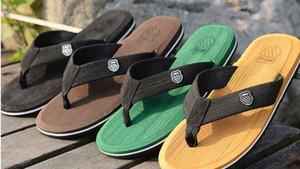 Оптовая продажа-горячие мужчины мода новый 2017 летний пляж surf плавание шлепанцы мужские тапочки chinelo masculino плюс размер плоские сандалии shoesPZ0037