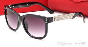 Alta calidad nueva protección UV400 Gafas de sol Plank negro gafas de sol lente de cristal gafas de sol negro gafas de sol de playa protección UV gafas de sol