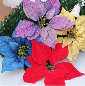 Envío libre Artificial flor falsa flor de navidad flor de la flor de Pascua flor decoración