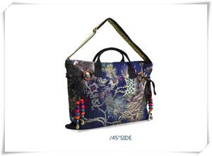 2016 nuevo estilo popular de Yunnan bordado bolsa de lona Crossbody Bolsa de doble propósito portátil