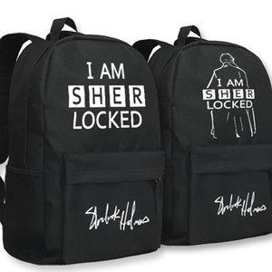 Шерлок Холмс рюкзак я Шерлок рюкзак ТВ играть Бенедикт Камбербэтч школьный Teleplay рюкзак Спорт школьный мешок Открытый день пакет