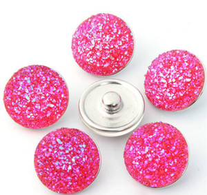 Alta calidad Noosa 18MM Acrílico Metal Snap Button Estilos mixtos DIY Snaps Charms Jewelry Fit Bracelet Bangle b115
