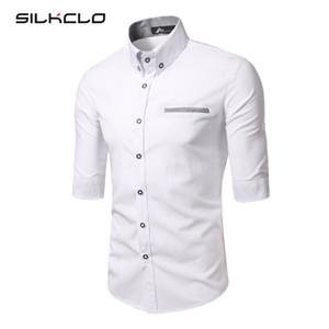 Atacado Cotton shirt FLC 2016 novíssimo roupas masculinas Luvas Meio camisas dos homens Qualidade Casual shirt Marca Camisas de vestido Camisa