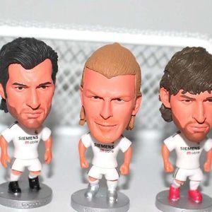 Real Madrid Raul Figo Ronaldo Beckham Beckham Casey Zidane Futebol Bonecas de Futebol Estrela Crianças Mini Toy Presentes