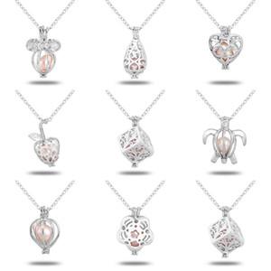 Wholeasle (включая цепь) 18kgp мода любовь желание жемчуг / бусы медальон подвески DIY жемчужное ожерелье Шарм подвески крепления