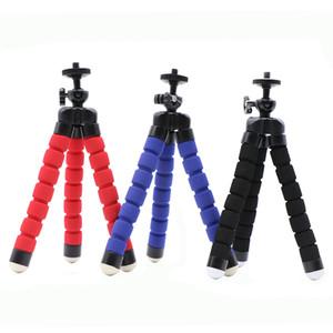 Flexibler Stativhalter Für Handy Auto Kamera Gopro Universal Mini Octopus Schwamm Ständer Halterung Selfie Einbeinstativ Halterung Mit Clip
