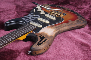 Custom Shop LTD Masterbuilt SRV Stevie Ray Vaughan Heavy Relic ST Tribute Электрогитара Ольха тела Vintage Sunburst, тремоло