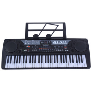 61 Key Digital Music Elektronische Tastatur Kinder E-Piano Orgel Schwarz