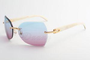 La fabbrica vende nuovi tipi di occhiali da sole, occhiali da sole 8300818 di alta qualità, vetri e angoli bianchi: 60-18-140 millimetri