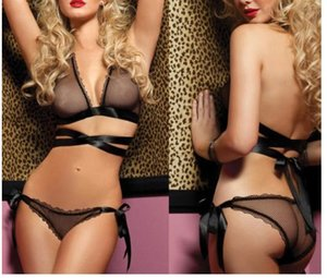 Lencería Sexy Sexy Pajamas Incluido Tentación Perspectiva El bikini Three Point Underwear Moda sexy traje de cuerpo de mujer